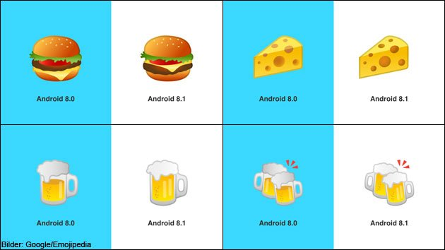 Android Update Google Burger Emoji