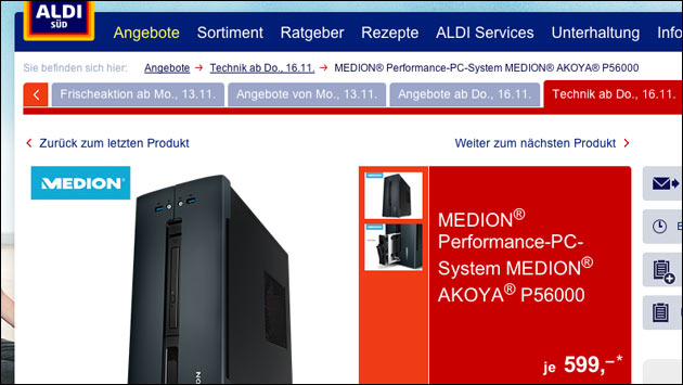 Medion PC Akoya P56000