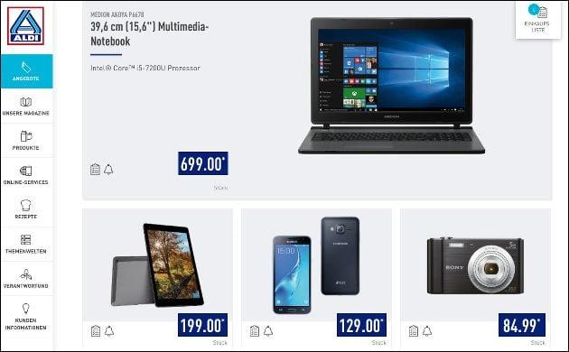 Technik-Angebote bei Aldi