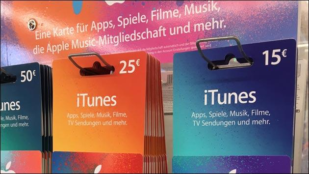 iTunes 15 Prozent Rabatt