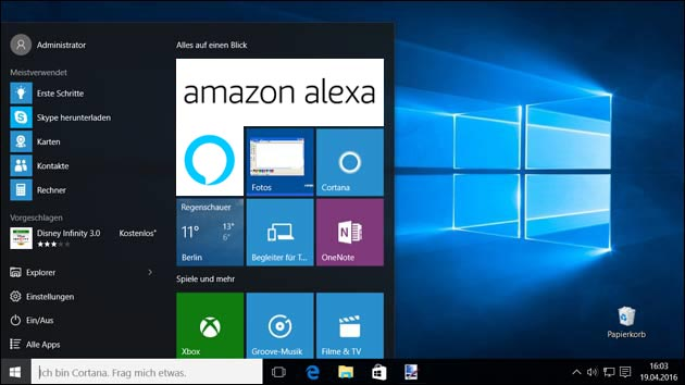 Alexa unter Windows