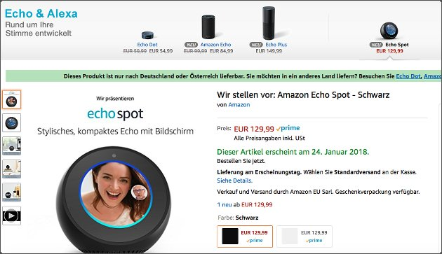 amazon gutschein code f r neuen echo spot 2 kaufen und. Black Bedroom Furniture Sets. Home Design Ideas