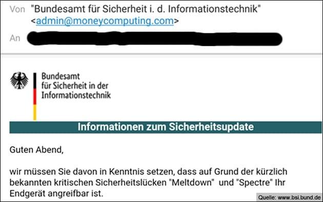 BSI Email: Meltdown / Spectre