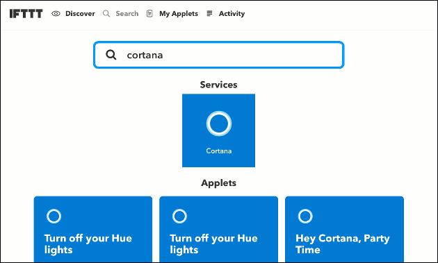 IFTTT und Cortana