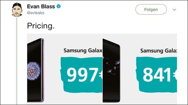 Samsung Galaxy S9 Preis