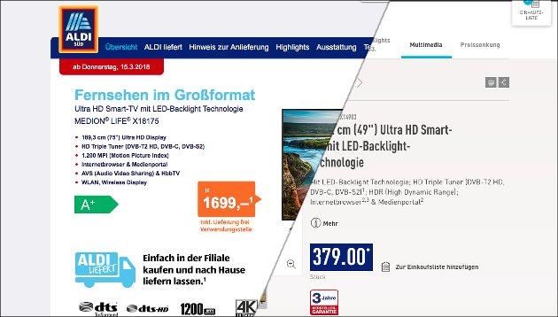 Aldi Bringt Riesigen 75 Medion Ultra Hd Tv Kompakten 49 Smart Tv