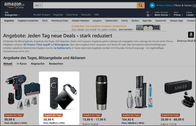 Amazon Fire TV Angebot