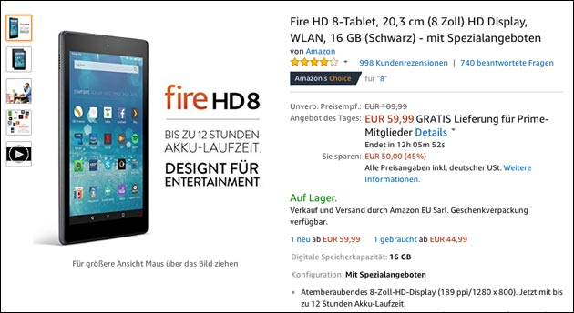 Fire Tablet 8