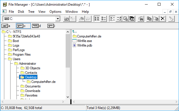Winfile File Manager