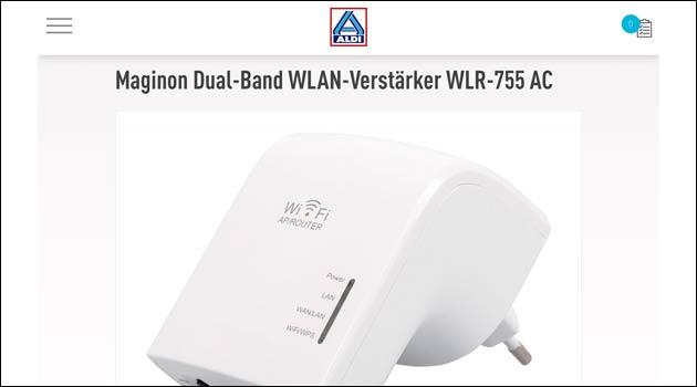 Maginon Dual-Band WLAN-Verstärker WLR-755 AC