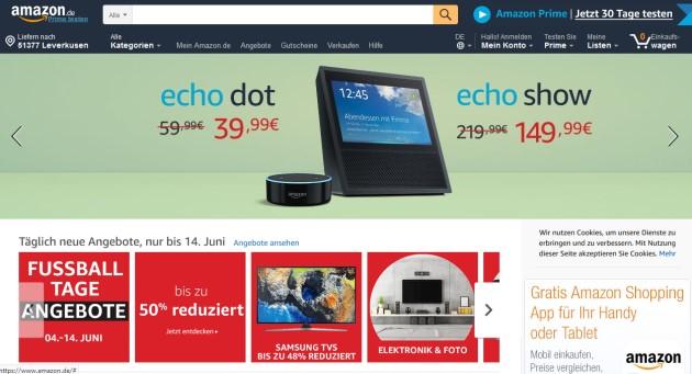 Amazon Echo Show Angebot