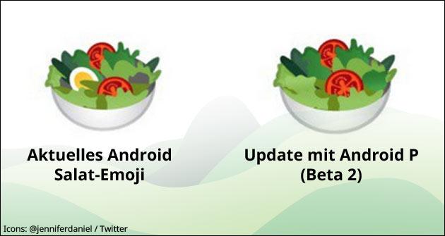 Google Salat Emoji vegan