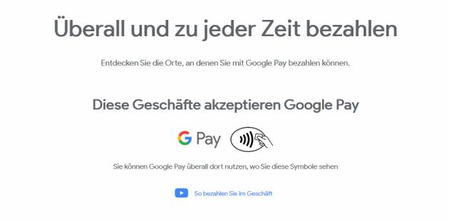 Google Pay Partner in Deutschland