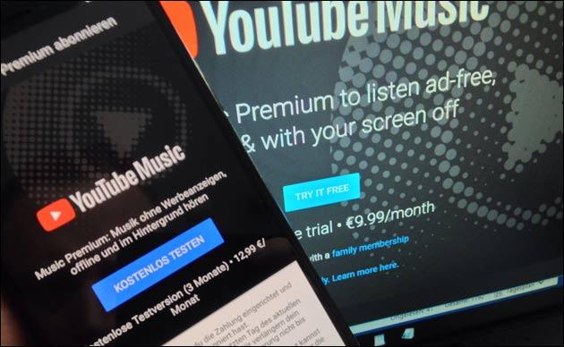 YouTube Music auf dem iPhone teurer