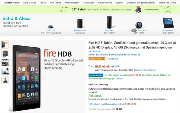 Amazon Fire Angebote
