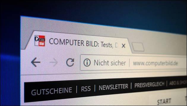 HTTP nicht sicher Chrome