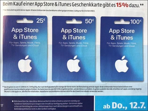 iTunes Rabatt