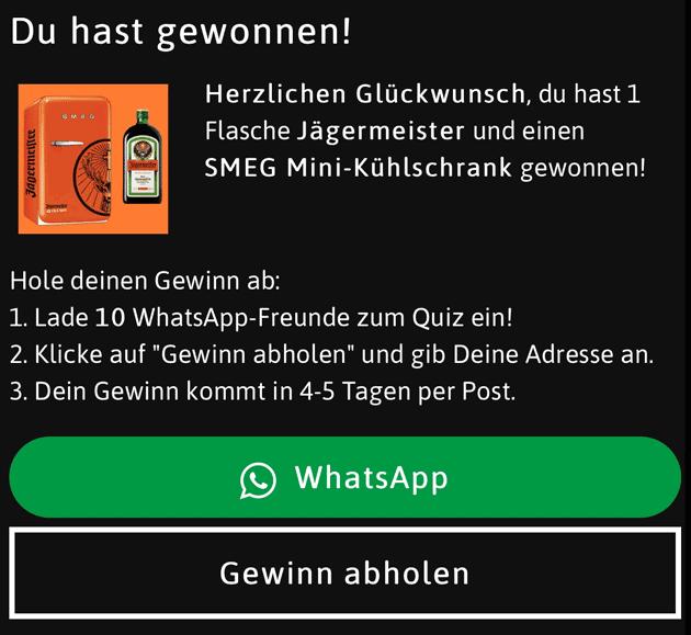 Jägermeister Kühlschrank Gewinnspiel