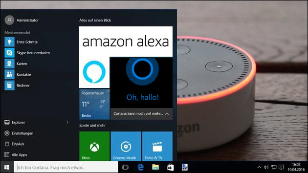 Alexa und Cortana