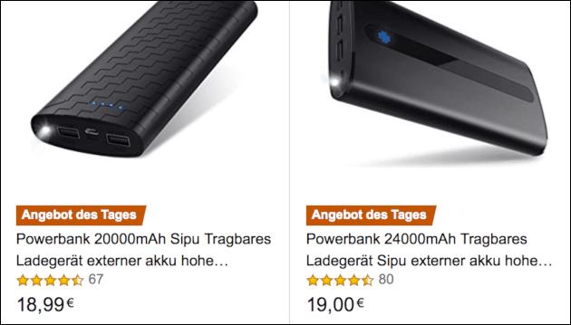 Amazon PowerBank Angebot