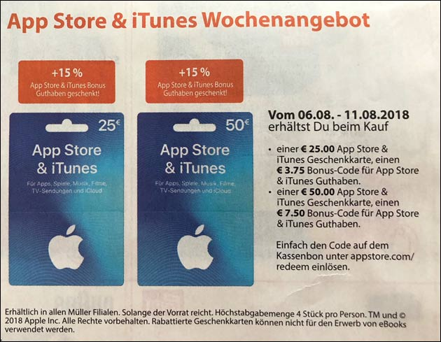 iTunes Angebote