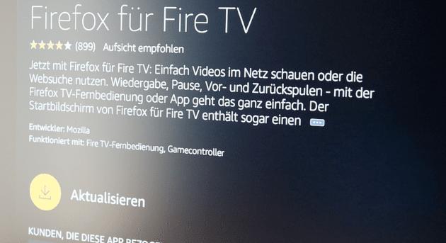 FireFox Update auf dem Fire TV