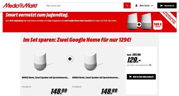 Google Home Angebot