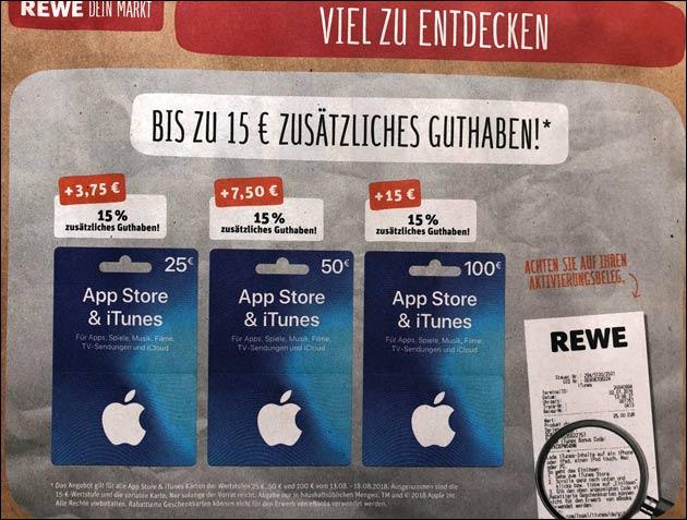 Rewe iTunes Guthaben