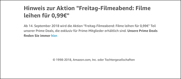 Amazon Freitags-Filme-Abend