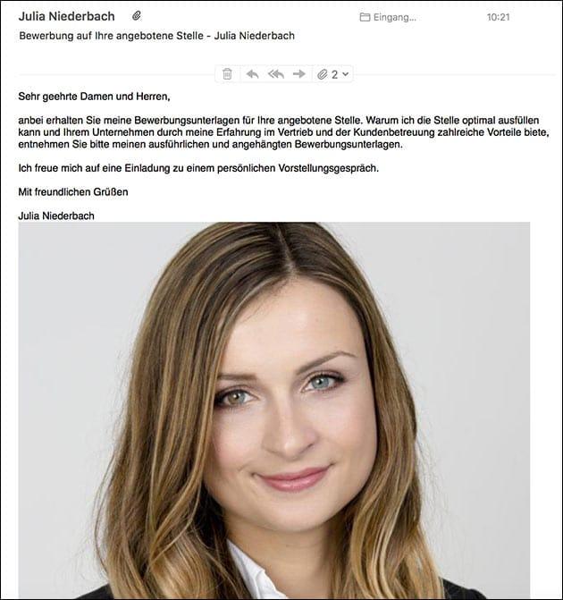 Bewerbung Julia Niederbach Sammer