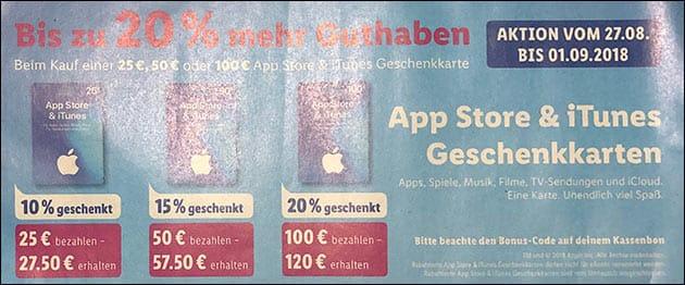 Lidl iTunes Rabatt