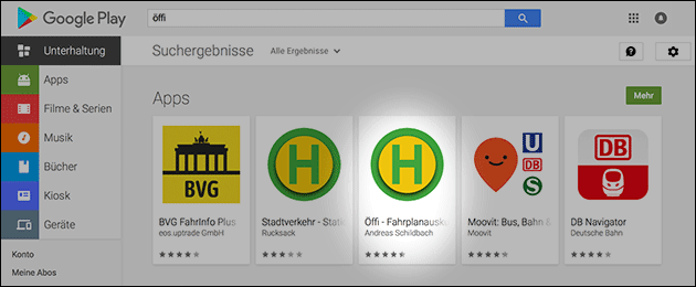 Öffi App ist zurück im Play Store