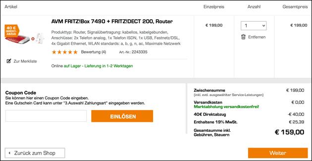 Fritzbox Angebot