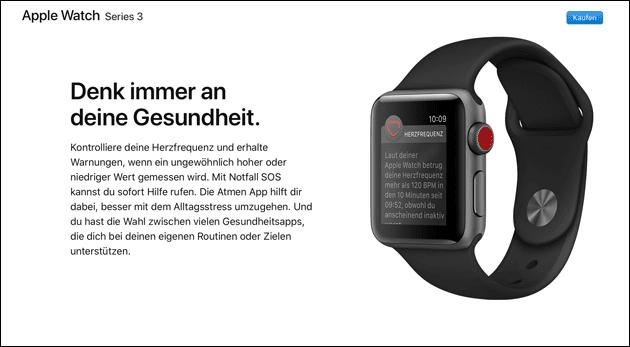 Apple Watch Gesundheit Nickel