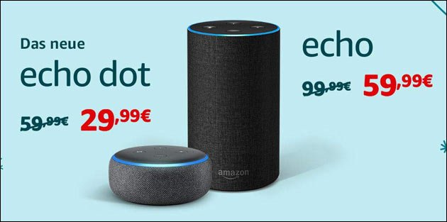 alexa im angebot amazon echo dot ab 25 eur. Black Bedroom Furniture Sets. Home Design Ideas