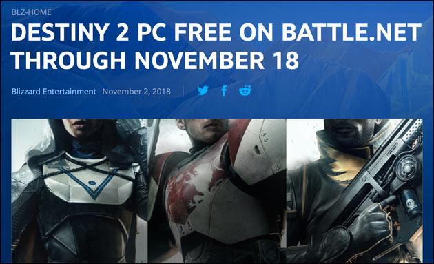 Destiny 2 kostenlos