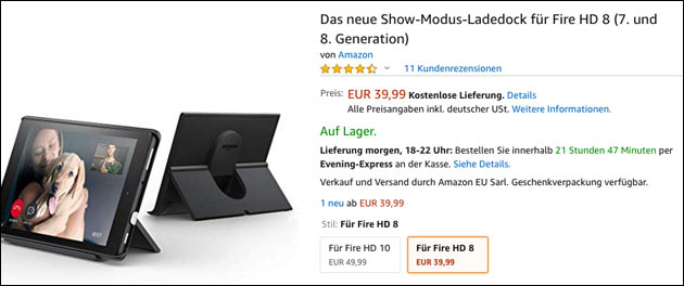 Fire Tablet Show Modus