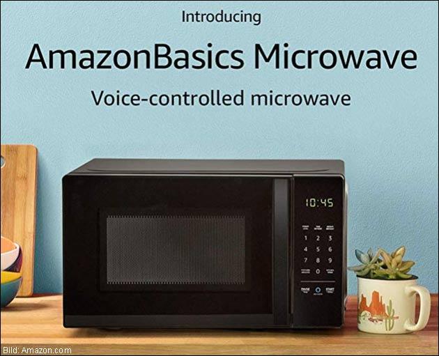 Amazon Alexa Mikrowelle