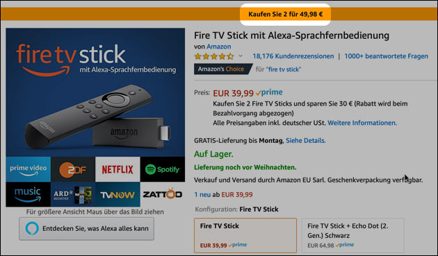 Fire TV Stick Angebot