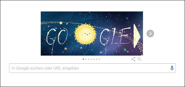 Geminiden 2018: Google Doodle