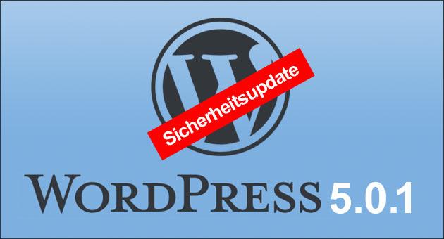 Wordpress Sicherheitsupdate 5.0.1