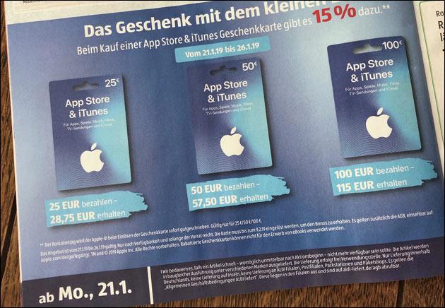 iTunes Extra-Guthaben kostenlos