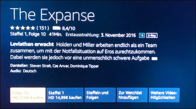 The Expanse Probleme Fire TV Stick