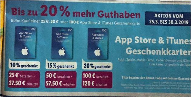 iTunes Guthaben kostenlos