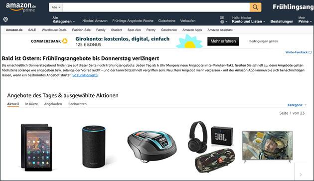 Amazon Frühlingsangebote