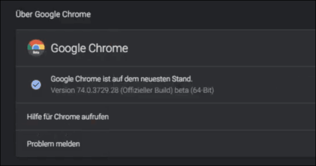 Chrome 74 Dark Mode aktivieren