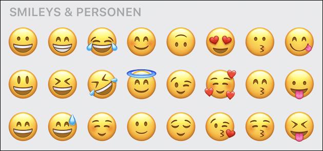 WhatsApp Emoji iPhone