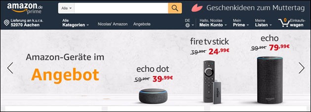 Amazon Alexa Angebot