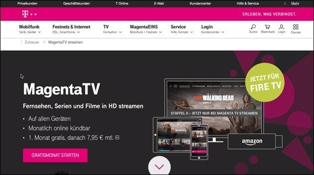 Magenta TV für das Fire TV
