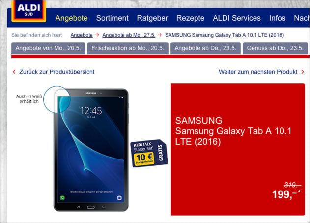 Aldi Angebot: Samsung Galaxy Tab A